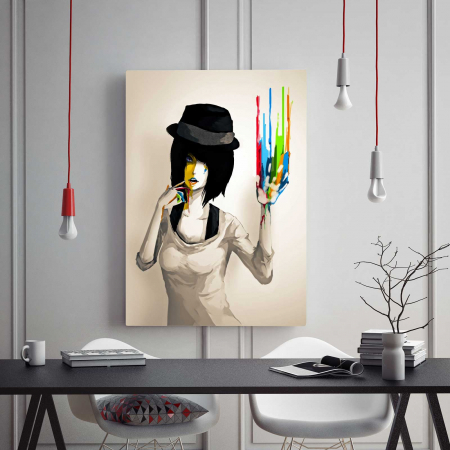 Tablou Canvas - Girl With Hat1