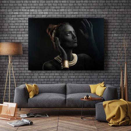 Tablou Canvas - Gold & Black2