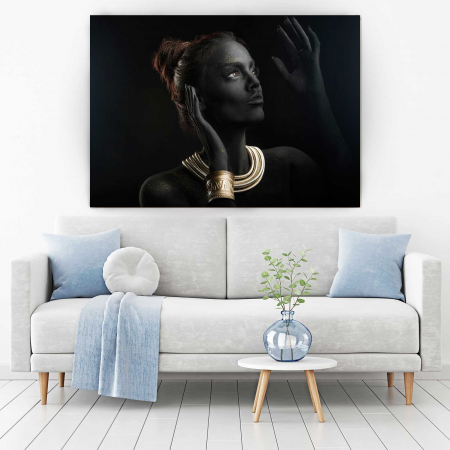 Tablou Canvas - Gold & Black1