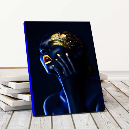 Tablou Canvas - Gold & Blue [0]