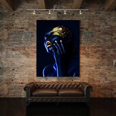 Tablou Canvas - Gold & Blue [2]