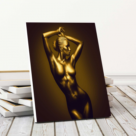 Tablou Canvas - Gold Nude 10
