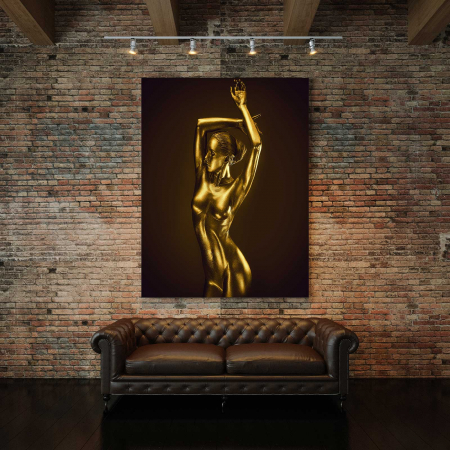 Tablou Canvas - Gold Nude 3 [2]