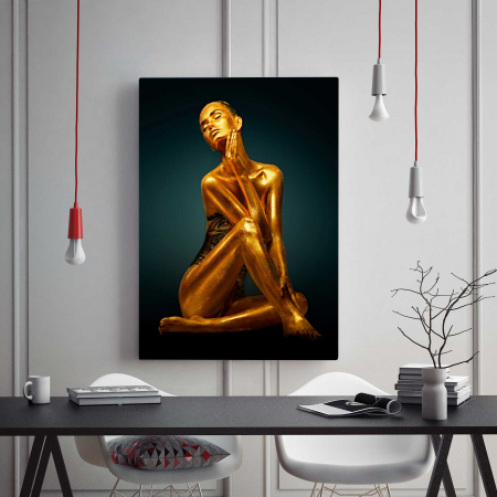 Tablou Canvas - Gold Woman1