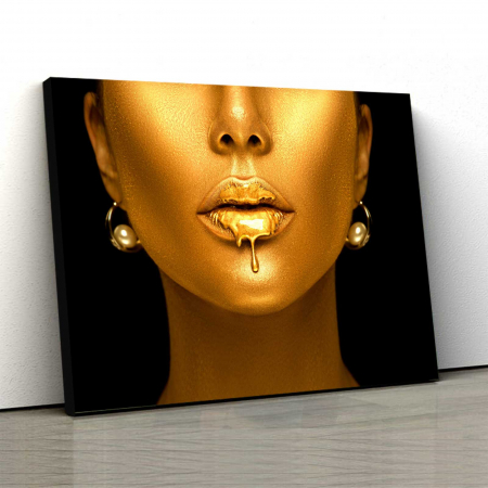 Tablou Canvas - Golden Lips0