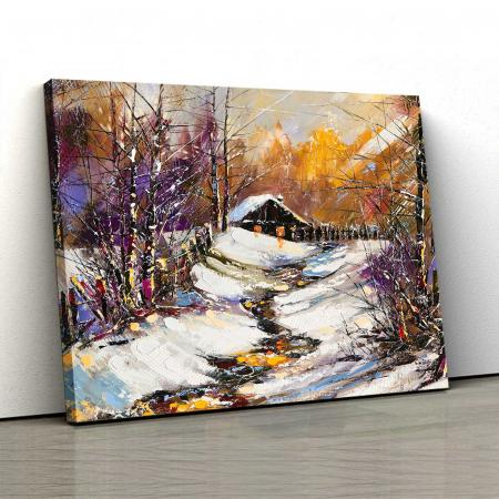 Tablou Canvas - Iarna In Sat [0]