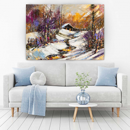 Tablou Canvas - Iarna In Sat [1]