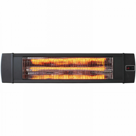 Incalzitor infrarosu fibra carbon Dreptunghiular negru, 4 trepte, 2000 W, 880 x 200 x 85 mm [0]