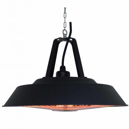 Incalzitor electric suspendat Negru rotund cu halogen, 1500 W, D 425 mm [1]