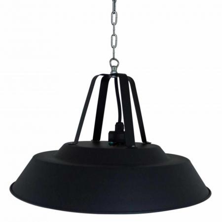 Incalzitor electric suspendat Negru rotund cu halogen, 1500 W, D 425 mm [2]