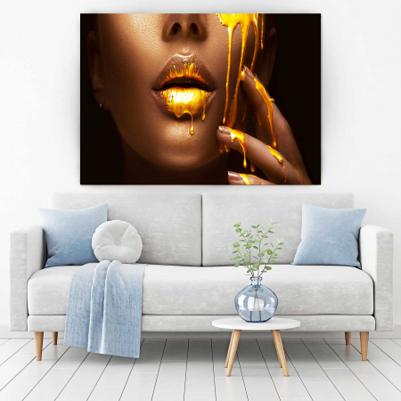 Tablou Canvas - Make-up Gold [1]
