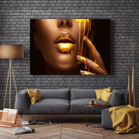 Tablou Canvas - Make-up Gold [2]