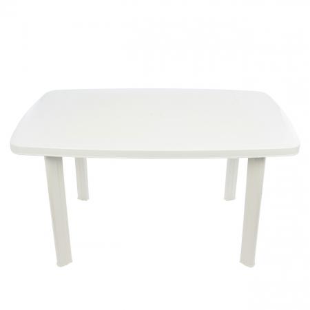 Set masa Alba + 6 scaune Albe, pentru gradina, alb, din plastic1