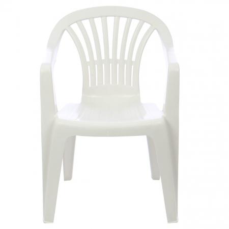 Set masa Alba + 6 scaune Albe, pentru gradina, alb, din plastic2