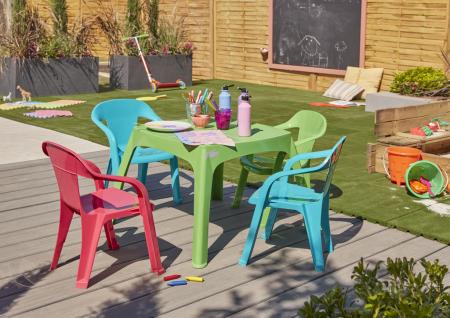 Masa verde pentru copii, plastic, 68 x 68 x 45 cm [1]