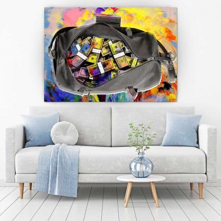 Tablou Canvas - Money Bag1