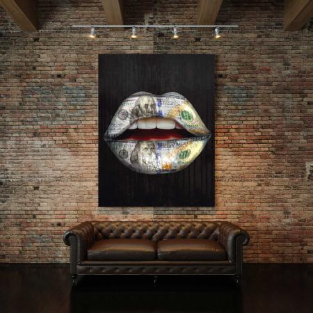 Tablou Canvas - Money Lips2