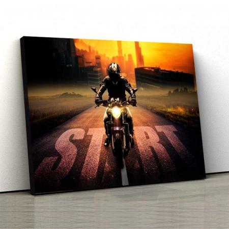 Tablou Canvas - Motocicleta0