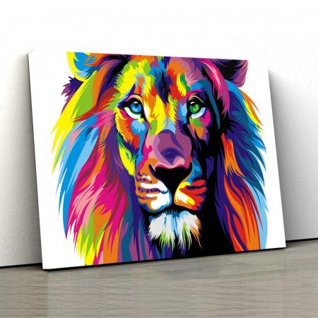 Tablou Canvas - Multi Color Lion [0]