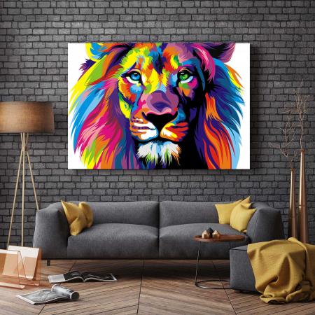 Tablou Canvas - Multi Color Lion [2]