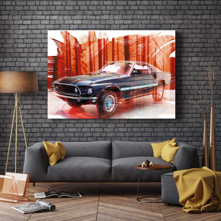 Tablou Canvas - Mustang [2]