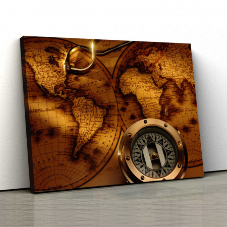 Tablou Canvas - Old Map0