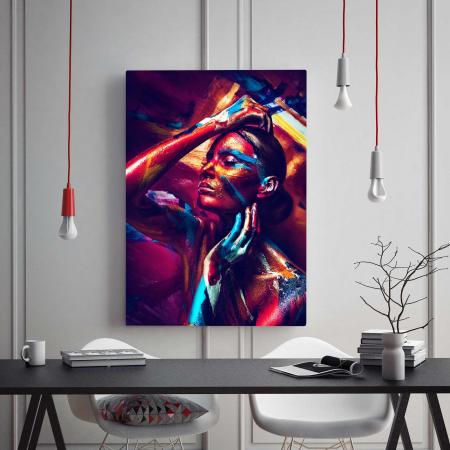 Tablou Canvas - Paint stripes1