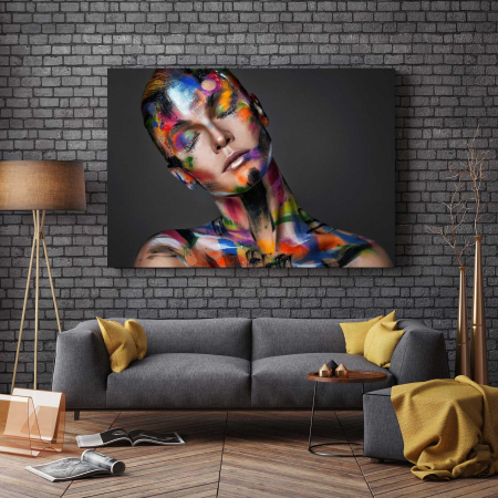 Tablou Canvas - Painted Girl2