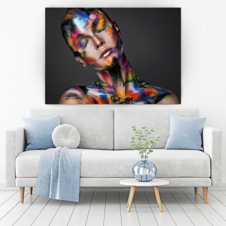 Tablou Canvas - Painted Girl1