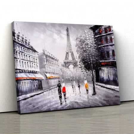 Tablou Canvas - Paris In Alb-Negru0
