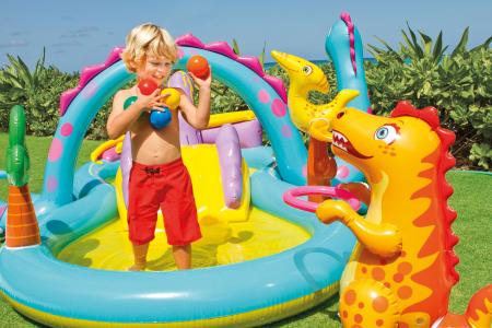 Piscina gonflabila Donald, pentru copii, cu accesorii, 333 x 229 x 112 cm [0]