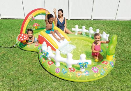 Piscina Centru de joaca, gonflabil, Verde, 290 x 180 x 104 cm0