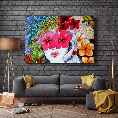 Tablou Canvas - Portret Floral [2]