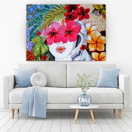 Tablou Canvas - Portret Floral [1]