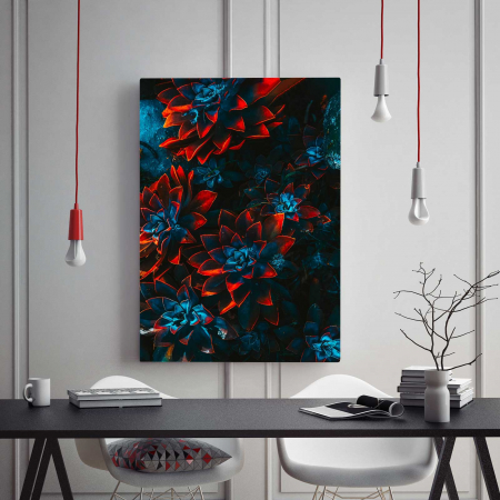 Tablou Canvas - Red Flowers1