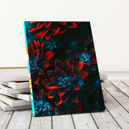 Tablou Canvas - Red Flowers0