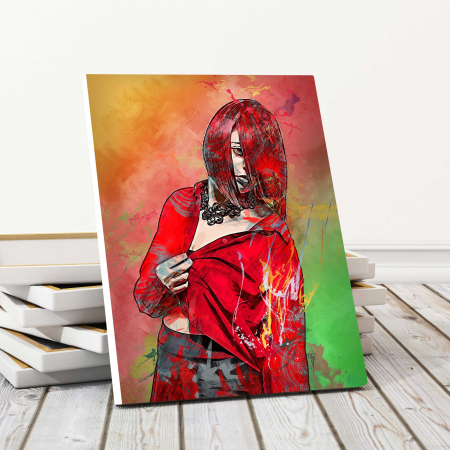 Tablou Canvas - Red Girl0