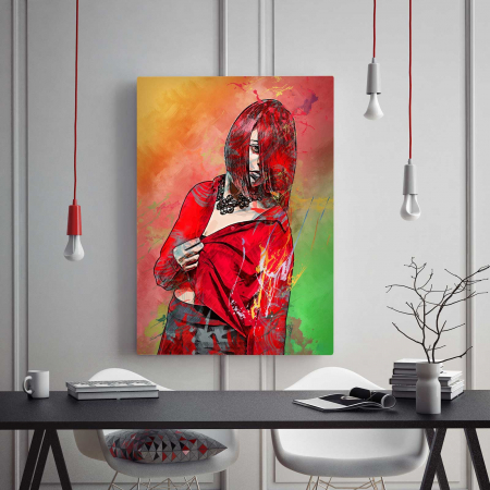 Tablou Canvas - Red Girl1