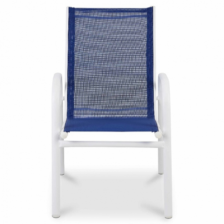 Scaun pentru copii, albastru, otel si poliester, 51 x 43 x 70 cm [2]