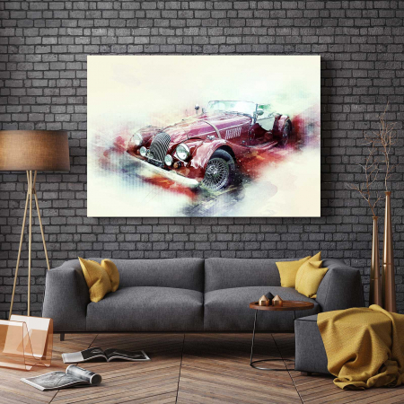 Tablou Canvas - Schita Automobil2