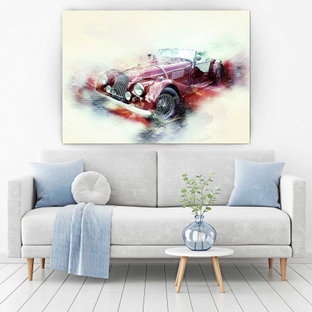 Tablou Canvas - Schita Automobil1