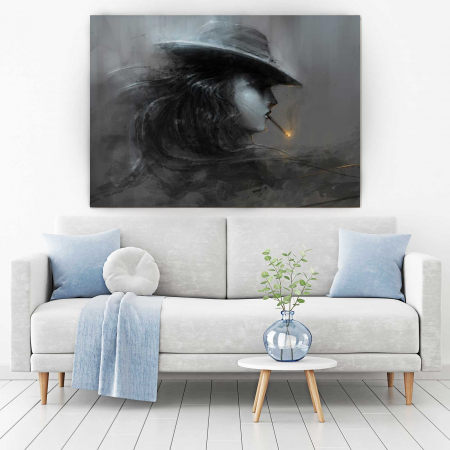 Tablou Canvas - Smoke Lady1
