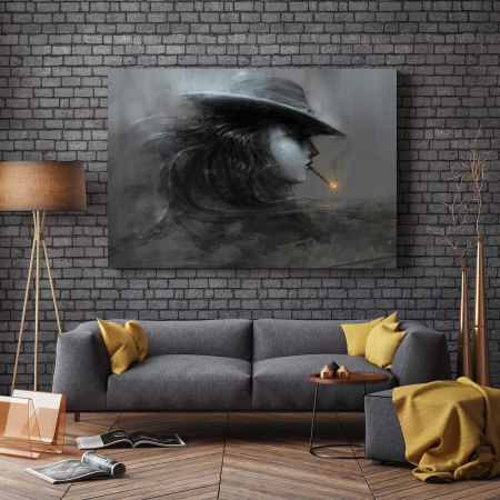 Tablou Canvas - Smoke Lady2