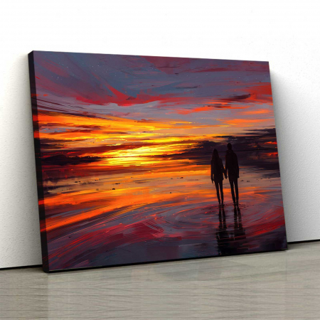 Tablou Canvas - Sunset Love0