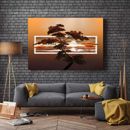Tablou Canvas - Sunset Tree2