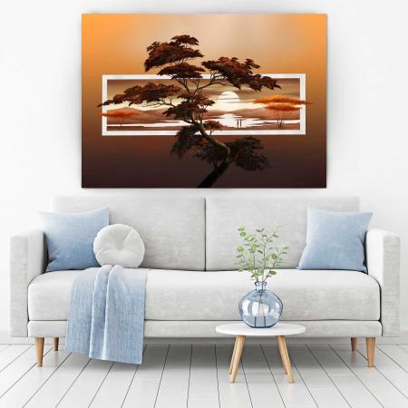 Tablou Canvas - Sunset Tree1