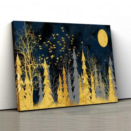 Tablou Canvas - Gold Tree0