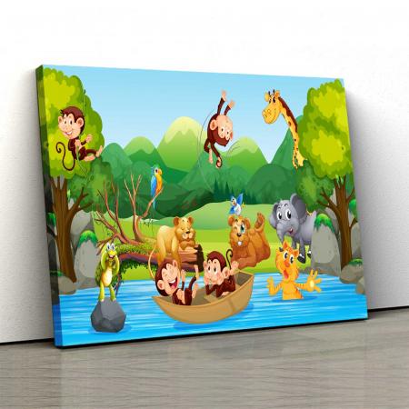 Tablou Canvas Copii - Zoo Party0