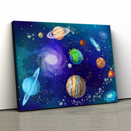 Tablou Canvas Copii - Planete0