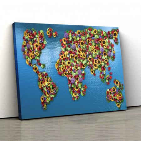 Tablou Canvas - Flowers Map0